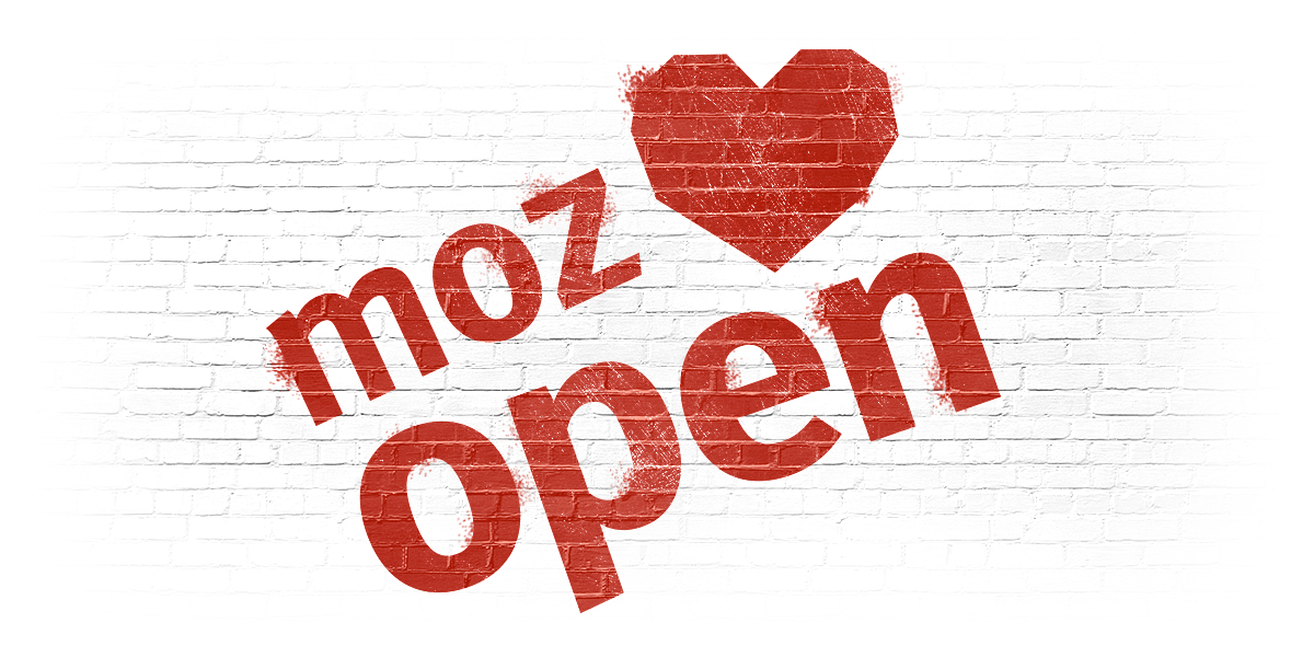 Mozilla love open illusztráció