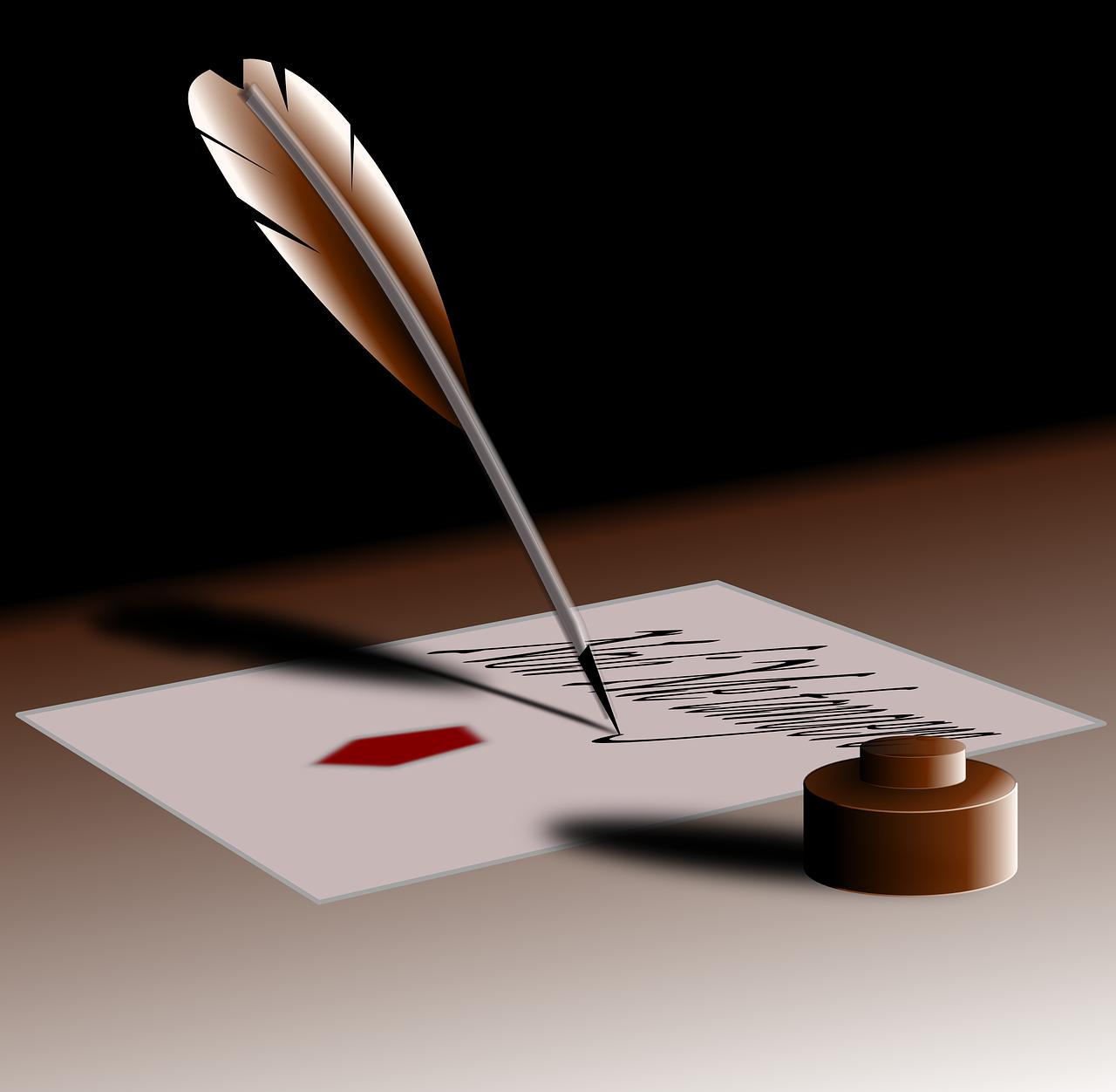 Tintával írás illusztráció
